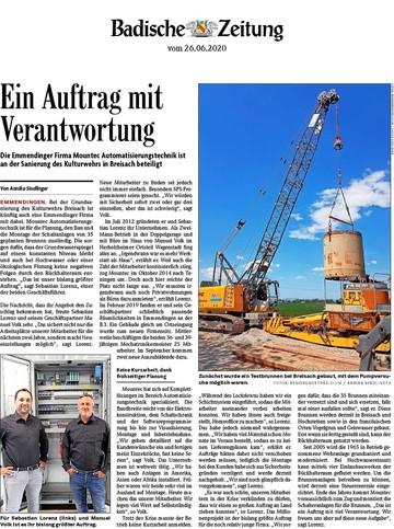 Pressemitteilung Badische Zeitung